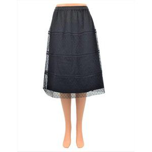 Downeast Skirt Size Small Black Lace